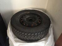 195/60 R14 tires on rims 4x100   Four tires