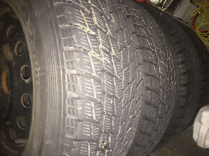 4 winter ties with rims, 235/70R16