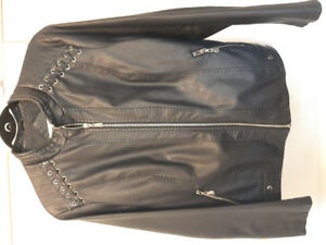 Women's pleather jacket