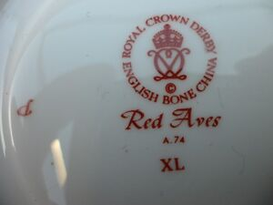 Royal Crown Derby Red Aves Plates $100 Each. Prince George British Columbia image 7