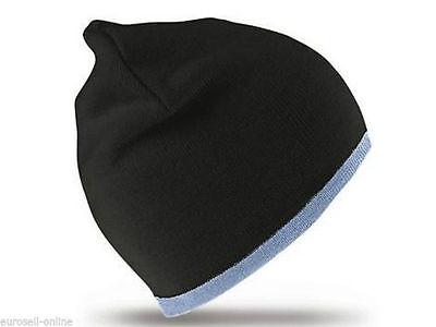 Mütze Ski Beanie Winter Snowboard HipHop Hut Cap Cappy Damen Herren schwarz blau (Blaue Hip-hop-mütze)