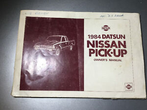 1984 Nissan 720 Truck Owners Manual 4x4 Gas Diesel SD25 King Cab