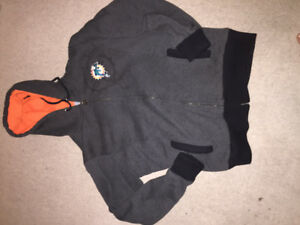 Miami dolphins fur lined zip up jacket with a free deadstock hat