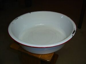 Large antique granite pan