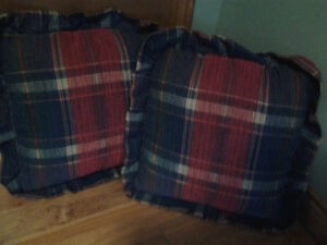 Beautiful plaid couch cushions