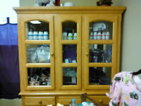 Buffet/Hutch-Pine Colour with Lite