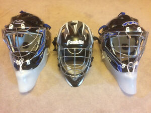 Assorted Street Hockey Goalie Helmets