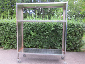Merchandising Cart Stainless Steel