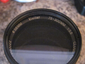 Vivitar 75-300mm Manual Focus Zoom Lens Cornwall Ontario image 2