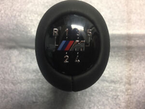 BMW Gearshift knob,leather/M plaque/5-speed NEW ORIGINAL 2511750