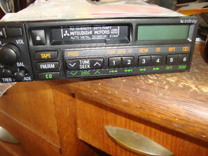 misubishi car stereos CASSETTE AND CD AM/FM