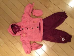 Manteau et pantalon de printemps 12 mois pour bébé fille