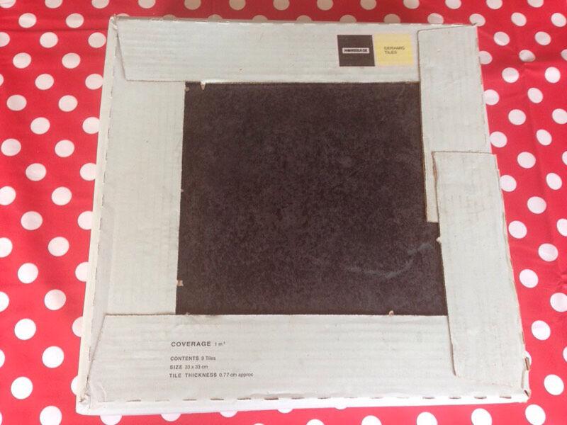 homebase cuba floor tiles grey 13 boxes in llantwit major vale