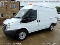 2008 08 FORD TRANSIT MWB, ONE COUNCIL OWNER, 2.4 350-TD, REAR WHEEL DRIVE, TIDY.