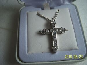 silver zirconia cross