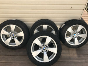 BMW X1 Winter Tires with Star Spoke Alloy Wheels with rims