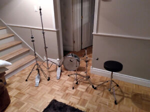 Lot Stands Drum Batterie Banc Stand Cymbale Cymbal Pied Pedale