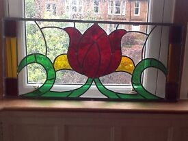 """Stained """"glass """" panel"""
