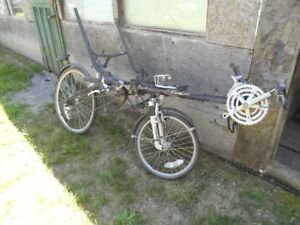 bike and suitcase