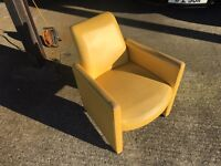 7 Good Quality Strong Tub Chairs(4 Green and 3 Yellow)