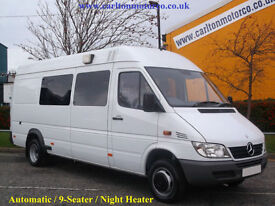 2004/54 Mercedes Sprinter 416 CDi 9-Seat Minibus [ Automatic ] Low Mileage