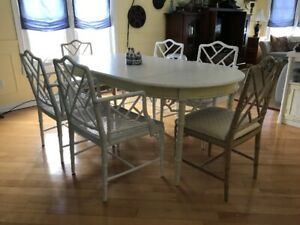 Faux Bamboo Dinning Room Set