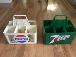 Pepsi and 7up 6 pk Bottle Holder case Carriers