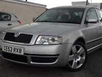 2003(53) SKODA SUPERB ELEGANCE V6 TDI 2496cc DIESEL*AUTOMATIC*LEATHER*FULL SERVICE HISTORY*2 KEYS
