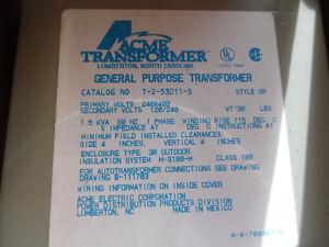 Transformer 1.5KVA 1Ph Enclosed 240/480VAC Pr 120/240VAC Sec Ne Kitchener / Waterloo Kitchener Area image 3
