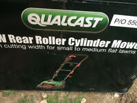 Boxed roller mower