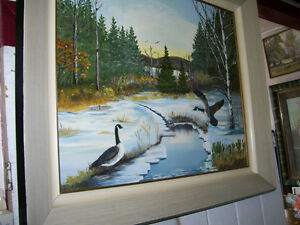 Original Ducks Painting - H  Stillwell