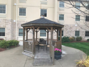 """Gazebo - 10' 5"""" Octagon with floor and railing"""