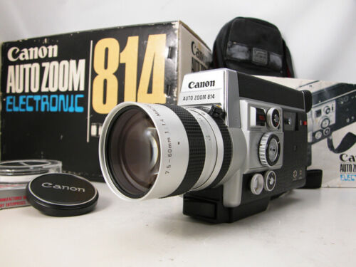 Working Pro CANON Super 8 MOVIE CAMERA In Box W/Rare Slow Motion & Pro Speed Wow