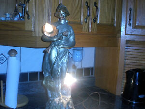 Antique Lady Lamp Works Great