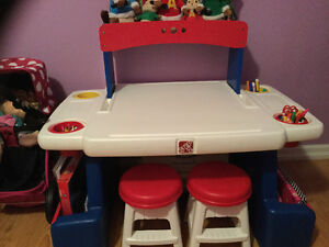 Step 2 desk with stools