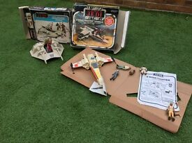1978 vintage Star Wars x wing & snowspeeder vehicles