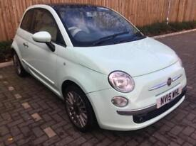 2015 15 GreenFiat 500 1.2 Lounge ( 69bhp ) ( s/s )
