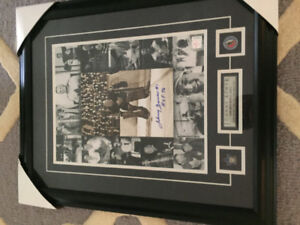 Johnny Bower Collage photos autographed with cert