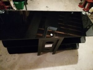 3-Tier Metal/Tempered Glass TV Stand