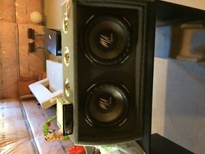 "2 12"" M.A Audio subs Deck and Amp"
