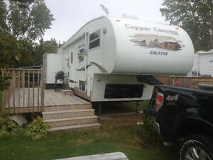 Copper Canyon 5th wheel travel trailer