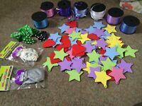 Balloon mega mix weights ribbons and clips