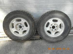 255 70 r16 IRONMAN ALL COUNTRY TIRES CHEVY 6 BOLT 6x5.5 RIM $200