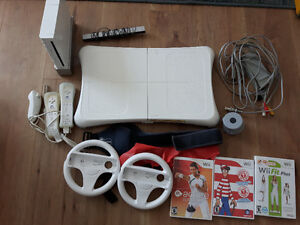 Wii console and a lot of accessories