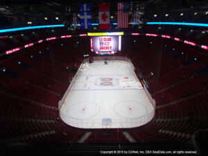 Billets Canadiens vs Anaheim Whited 310 AA. Seats 3/4. First Row