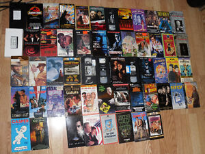 Collection of 55 VHS / VCR tapes movies The Wizard , Batman