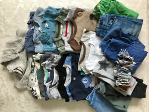 Set of boy clothes - tops sweatshirts pants etc 1.5-2 years 26pc