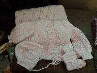 Hand Knit Baby Sets and Blankets