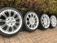 "Genuine BMW 3 Series MV2 18"" M Sport Alloy Wheels & Tyres E46 E90 E91 E92 E93 Z4"