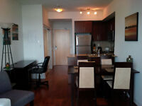 August 16: Furnished 2 Bed Downtown Condo on high floor @ MLSQ